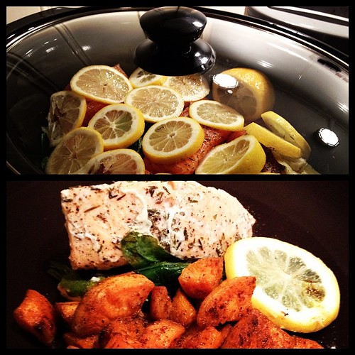 salmon in the slow-cooker