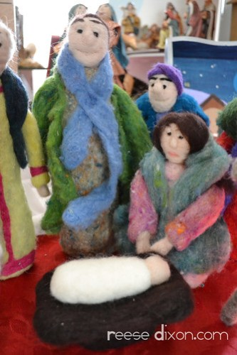 Needlefelted Nativity Closeup