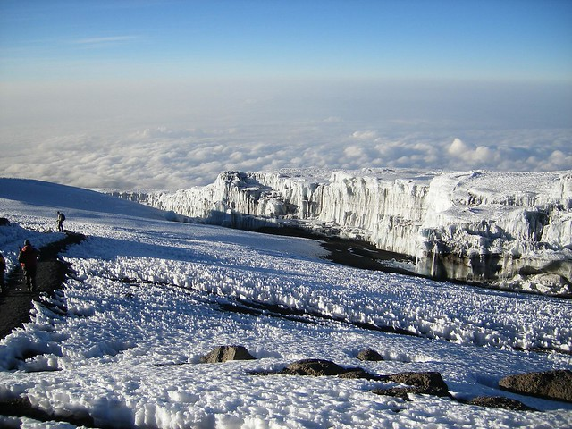 Summit Glaciers of Mt. Kilimanjaro