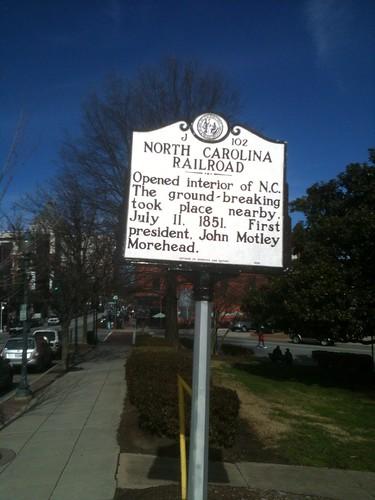 NORTH CAROLINA RAILROAD by Greensboro NC
