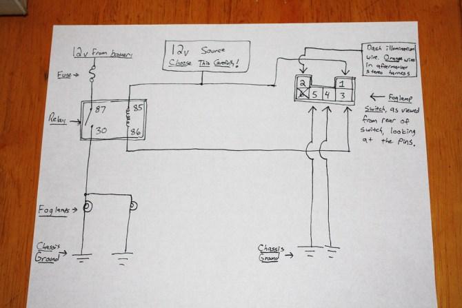 diy wiring oem foglamp switch w/ aftermarket lights