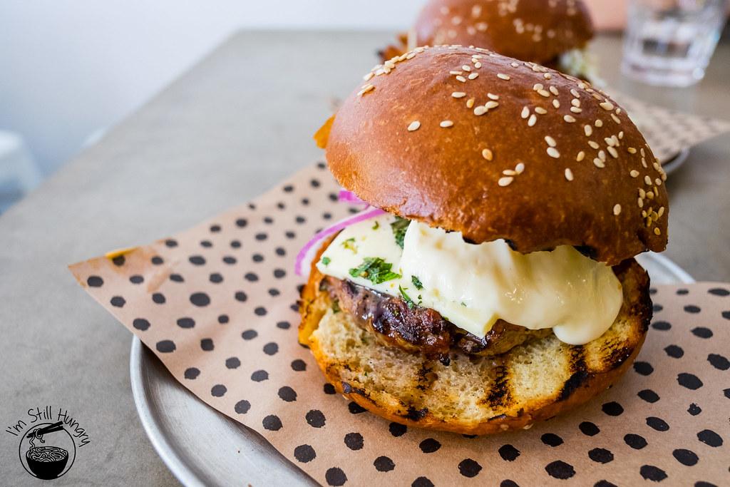 Chur Burger grilled lamb burger