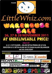 LittleWhiz.com Warehouse Sale 26 - 28 Nov 2011