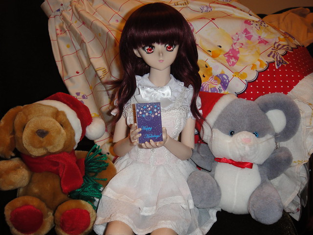 Makoto gets a card from mitsuki!