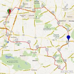 05. Bike Route Map. Cranbury NJ