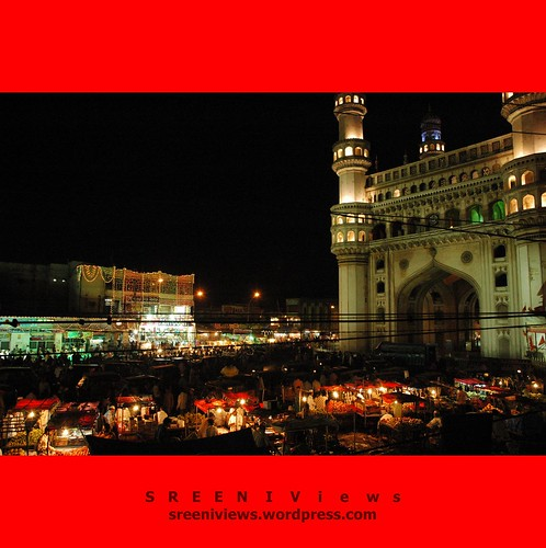 In the Bazaars of Hyderabad - Charminar