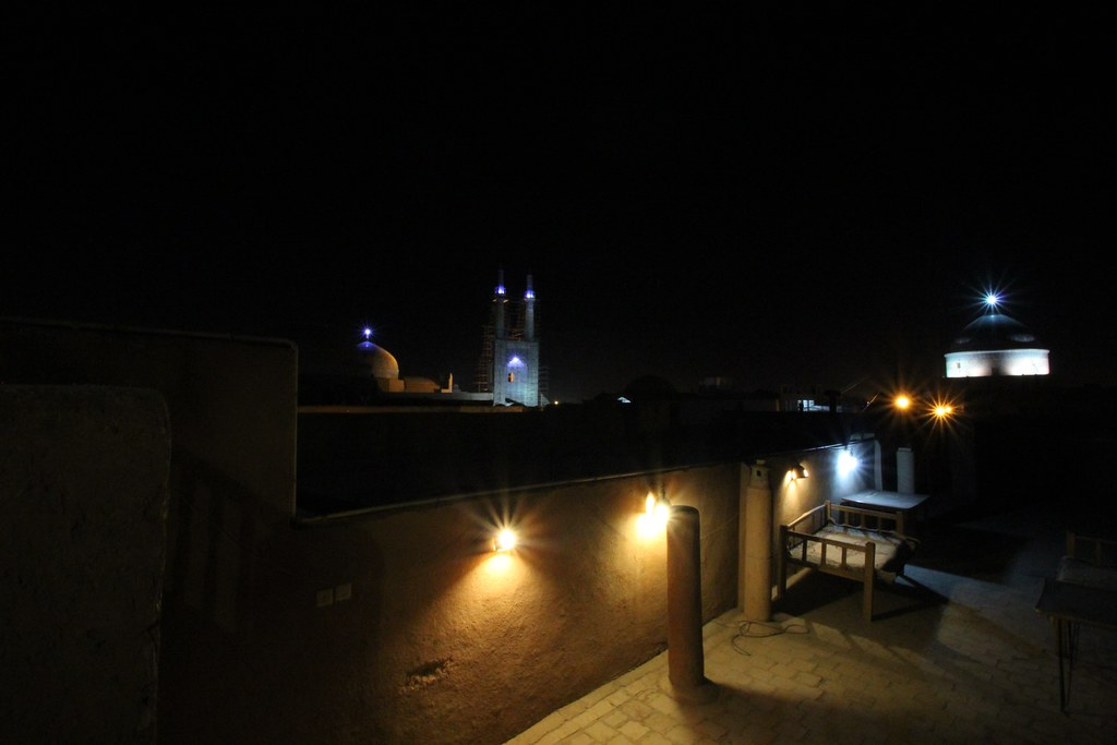 View from the roof of the Orient Hotel in Yazd