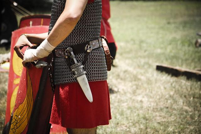Roman warrior knife + Shield @ Campanopolis, Buenos Aires