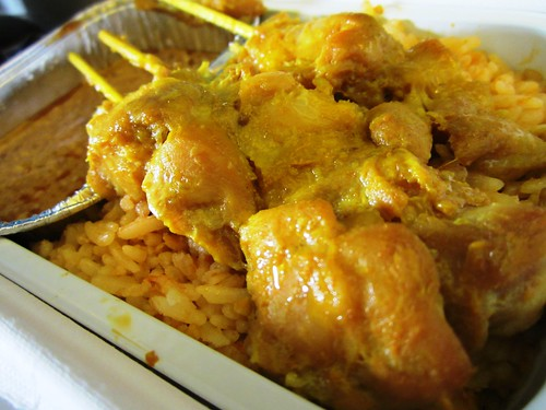 MAS chicken satay & fried rice