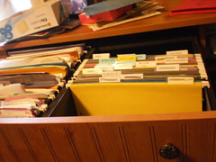 Same file drawer with right side now containing new empty files