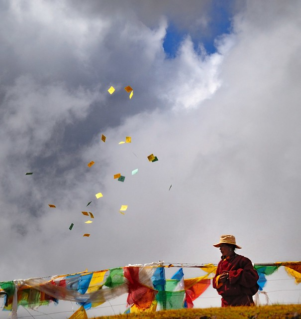 Paper Wind Horse called Lungta in Tibetan.   Flickr - Photo Sharing!