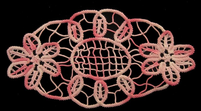Romanian point lace small doily