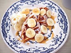 Banana maple syrup waffle, ReStore Living Cafe, Tanjong Pagar Road