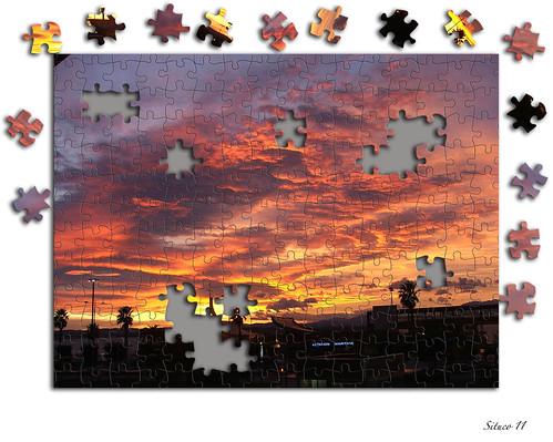 Puzzle desde la ventana de la oficina