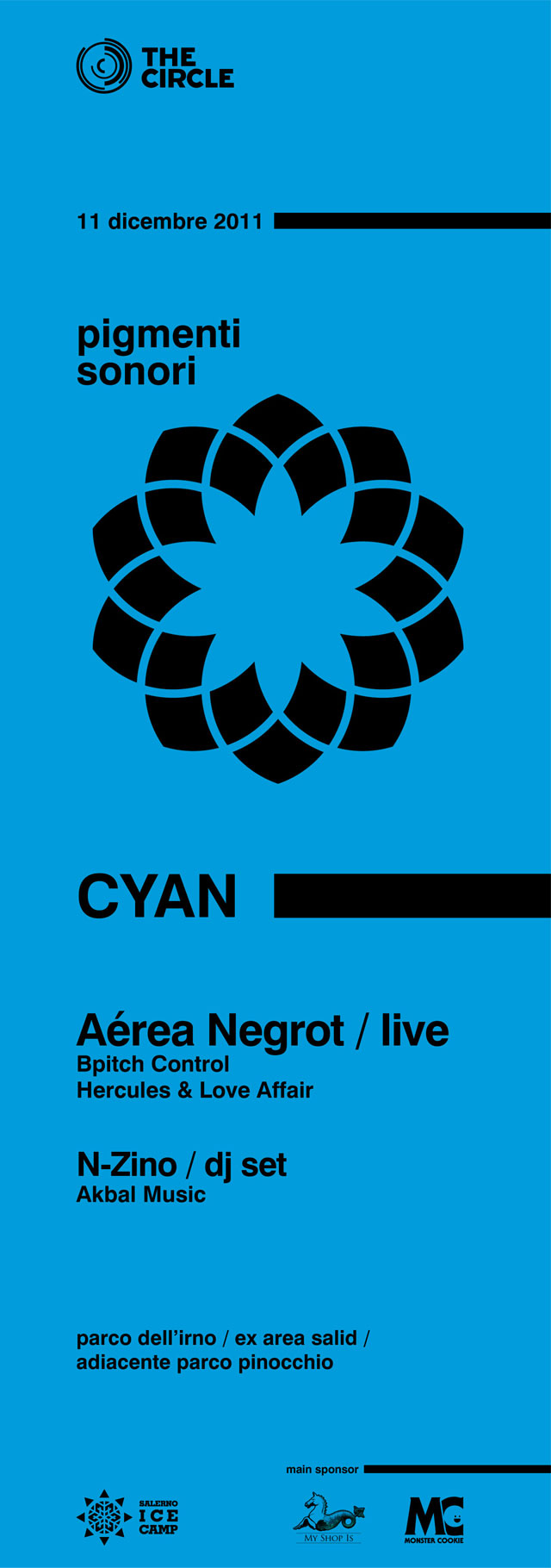 "The Circle presenta ""CYAN"" Aérea Negrot live, domenica 11 dicembre Ice Camp"