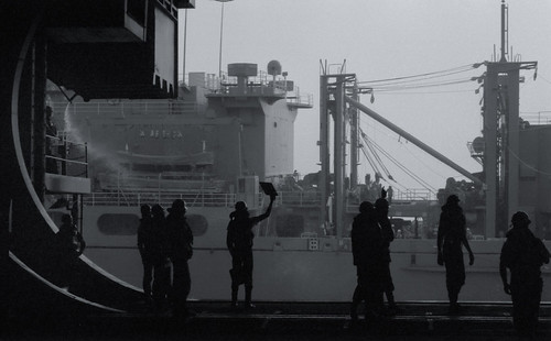 UNREP Aboard USS Independence