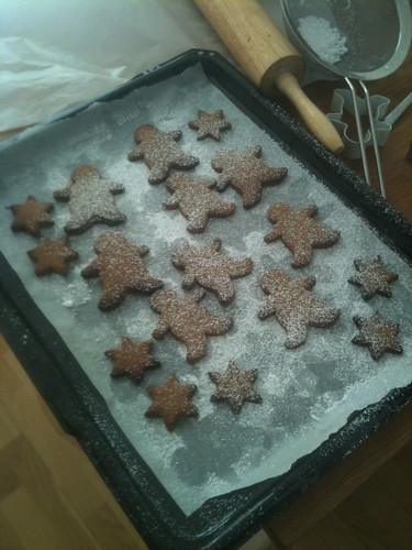 Gingerbread cookies with dust