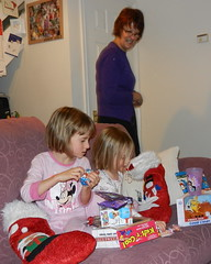 Millie and Amber and presents