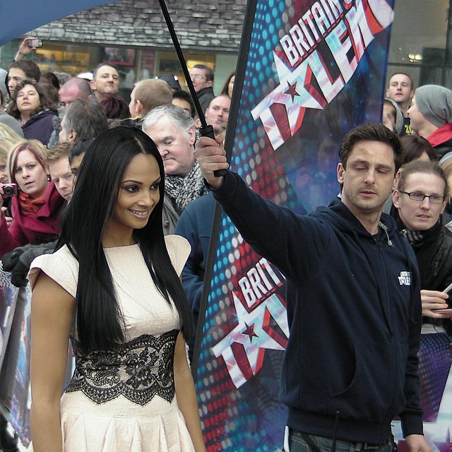 Britains Got Talent auditions, Cardiff. Alesha Dixon arrivals.