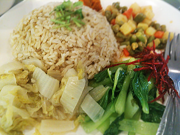 Vegetarian rice at Golden Shoe