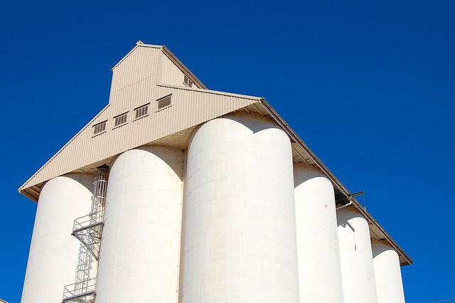 Peanut storage silo, Kingaroy, Queensland, Australia.