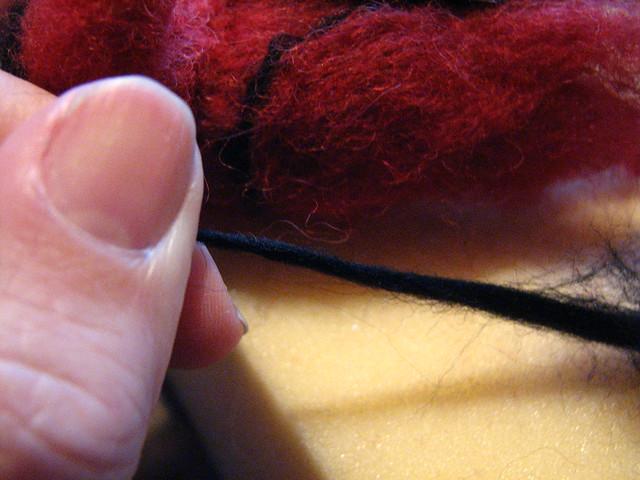 Drafting wool to make detail