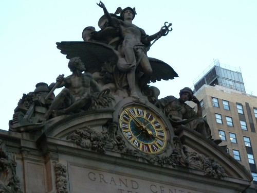 Monumental Statue and Tiffany Clock