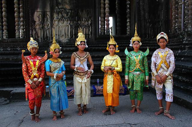 Dancers in Angkor Wat