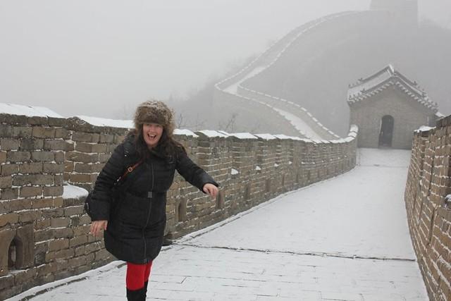 今天长城上的一天,中国几乎倒下了。在雪地里很漂亮。现在是在午夜的20分钟内。我很困惑。