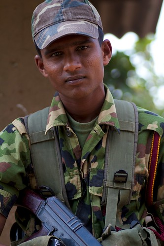 A soldier (shot this photo so he would let me through his checkpoint -- a vanity bribe)