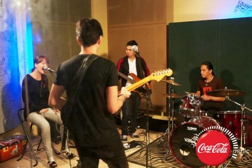 Rico Blanco and Amber Davis at Coke Music Studio - 15