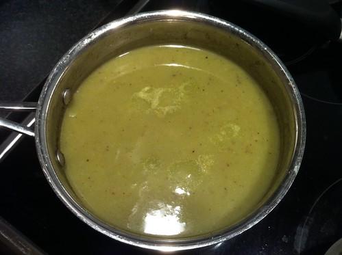 Jerusalem artichoke & leek soup