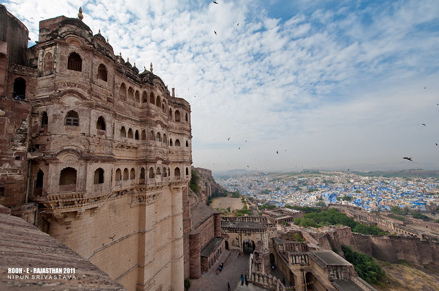 The mehrangarh fort.