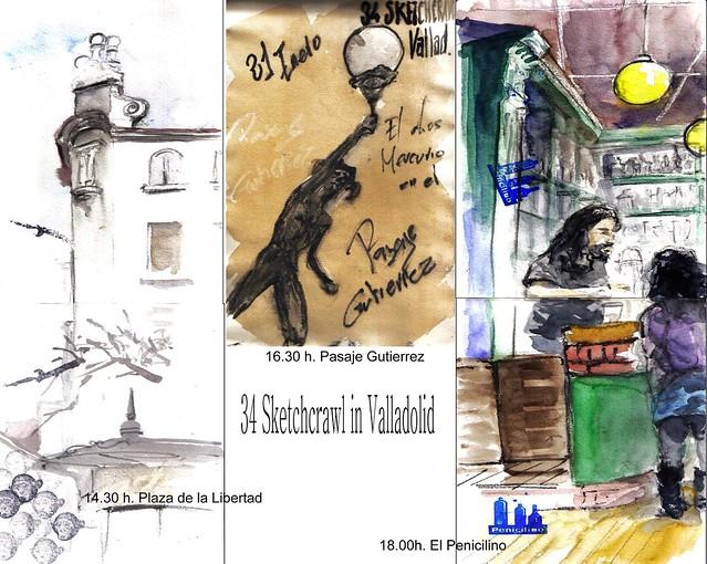 34 Sketchcrawl in Valladolid