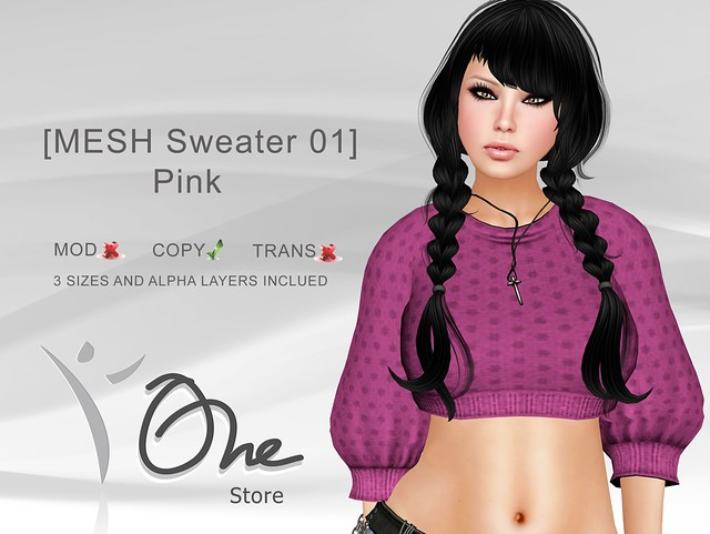 https://marketplace.secondlife.com/p/One-Store-MESH-Sweater-01-Pink/3146680