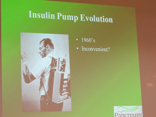 Jerry K Joseph, early insulin pump slide, Wearable Technologies Conference 2012