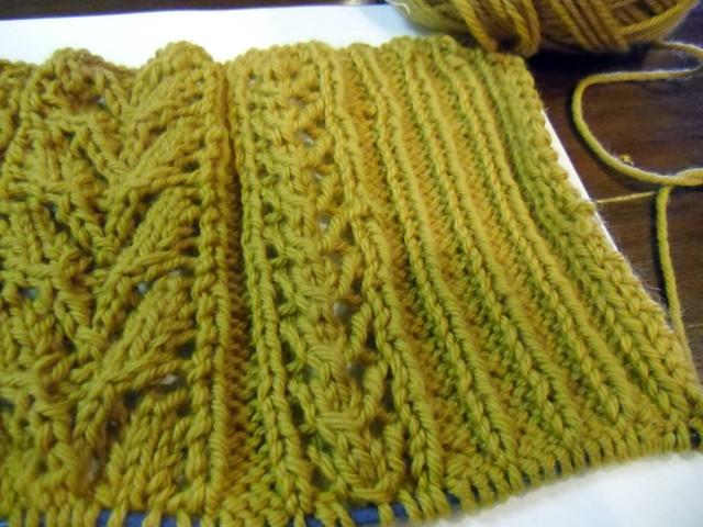 Agatha - lace pattern & ribbing