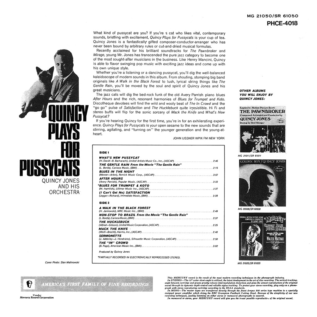 Quincy Jones - Quincy Plays for Pussycats