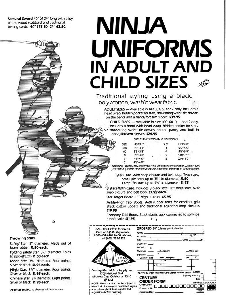 Ninja uniforms 4 sale