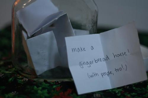 advent activity jar: make gingerbread cookies