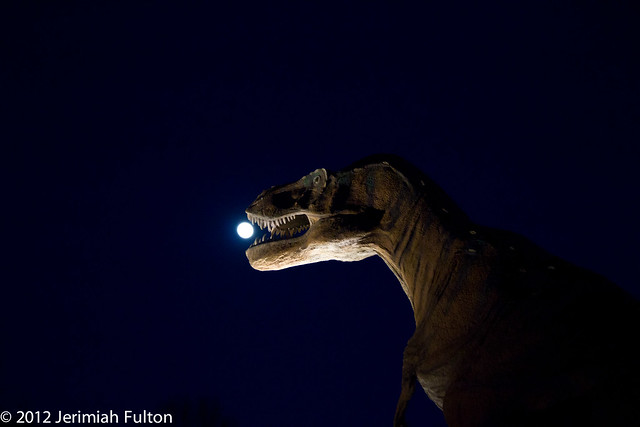 T-Rex Eatign the Moon