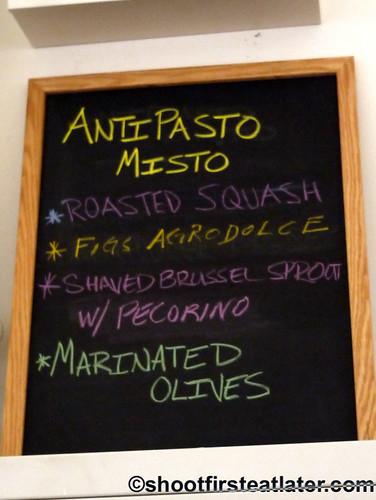 Eataly NYC- La Pizza & La Pasta antipasto misto