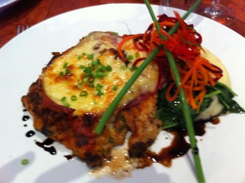 chicken parmigiana, Kingsway Bar & Bistro