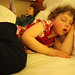 Lily worn out after a long day in Malaga, Spain