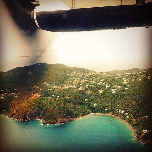 Odabo (goodbye) #stt #virginislands #caribbean #plane #island #aerial #water #ocean