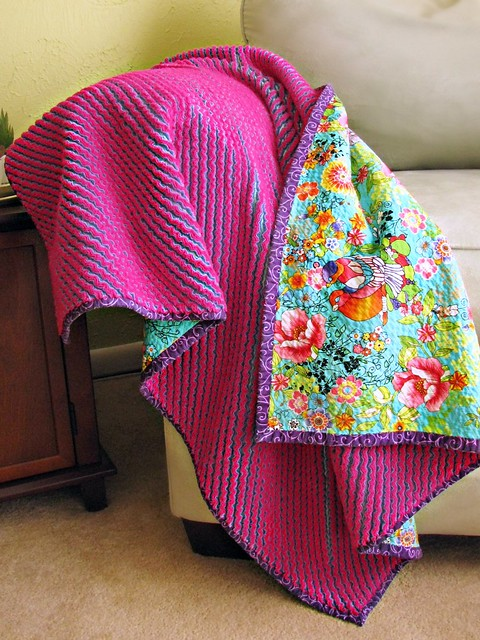 Floral Cut Chenille Blanket