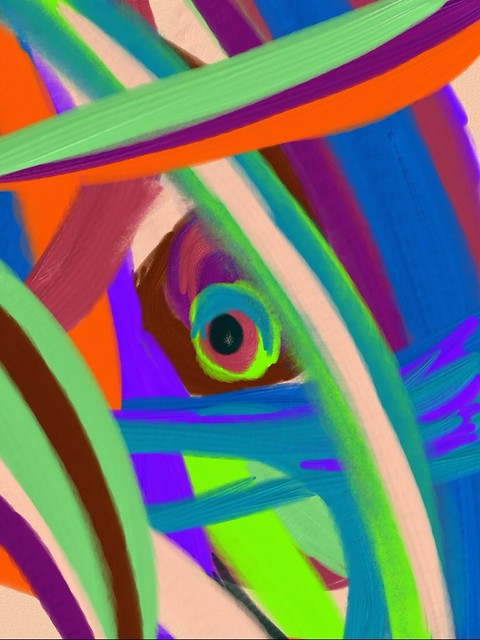 Abstract painted with Art Set on the iPad.