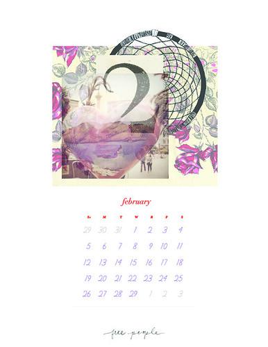 February Calendar v2 by FreePeopleFlickr