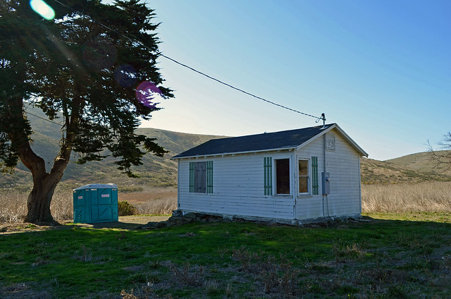 The old ranch bunkhouse sits just off the main Headlands Trail