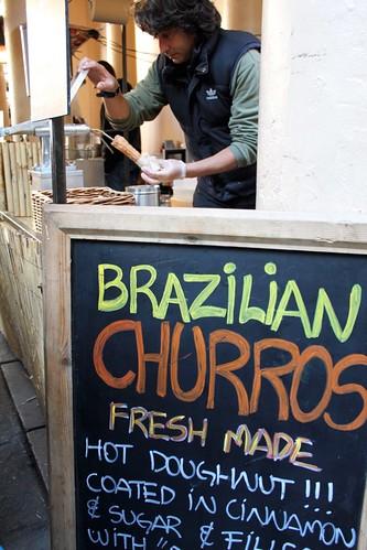 we break for churros @ greenwich market